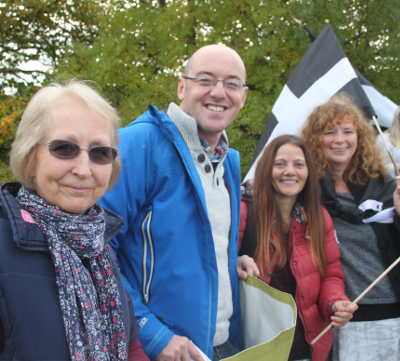 Michael Bunney at a recent Devonwall protest