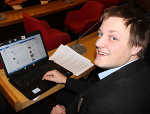 Rob Simmons at the 2013 Mebyon Kernow Conference where he was responsible for social media and press coverage